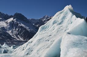 雪山冰川风景