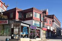 藏族特色城镇楼房建筑
