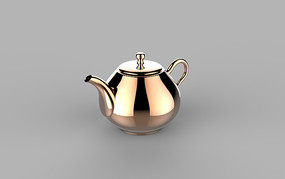 黄铜金属茶壶