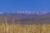可鲁克湖雪山风光