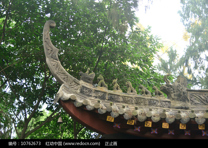 石经寺古寺中式建筑飞檐及走兽 图片