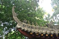 石经寺古寺中式建筑飞檐及走兽