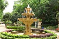 住宅楼盘欧式中庭水景园林造景