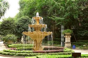 住宅小区中庭欧式喷泉园林造景