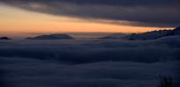 汶川什格达(布瓦寨后山)云端晚霞
