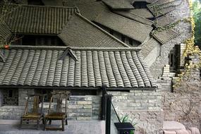 皇城老妈火锅店老成都浮雕墙