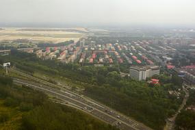 航拍北京首都机场机场高速