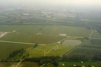 航拍北京天竺乡村高尔夫球场