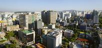 韩国水原城市风光-俯拍全景图