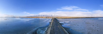 盐湖风光超宽幅图片