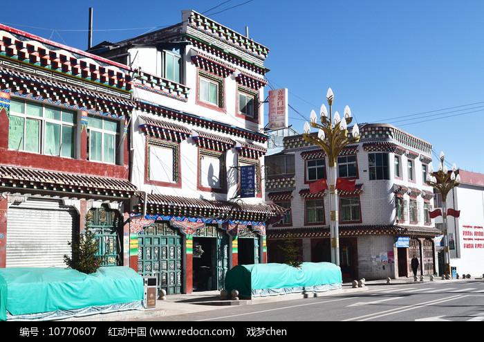 藏区小镇图片