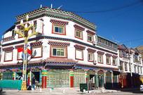 西藏藏族楼房建筑