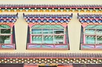 藏式建筑窗户图片
