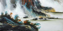 酒店装饰山水风景画