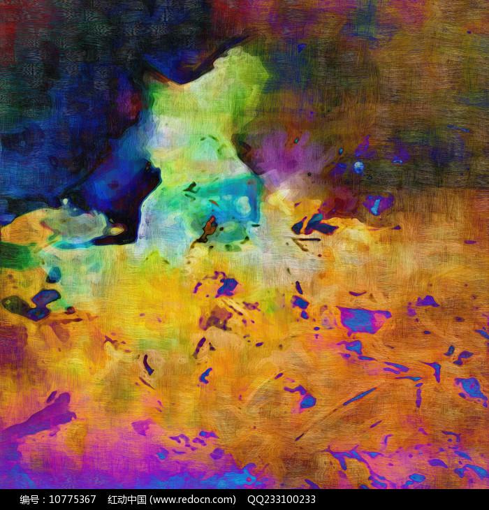 意境现代抽象油画图片
