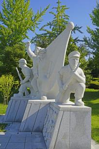 韩国水原仁溪艺术公园人物雕塑