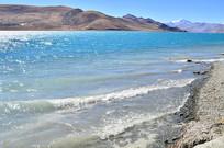 羊湖海浪风景