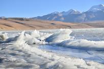 高山冰川风景