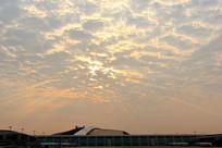 广州白云国际机场天空云霞