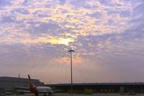 广州白云机场及天空云霞