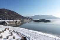 松花湖雪景