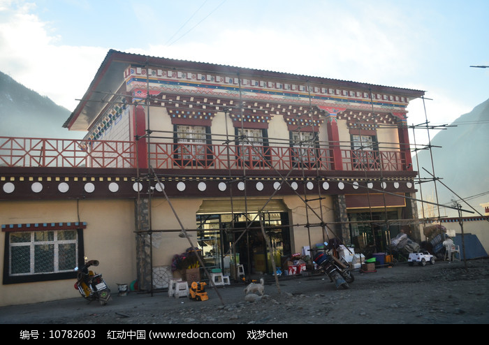 西藏藏区民房建筑图片