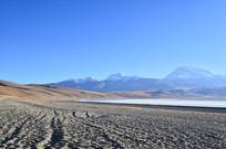 雪山湖泊沙滩风景