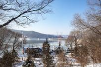小丰满水电站冬季雪景
