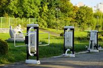 韩国水原的公园公共健身器材