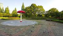 韩国水原孝园公园广场