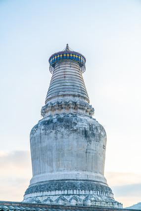 中国五台山景区里的佛塔
