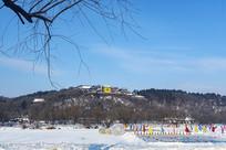 北山药王庙雪景
