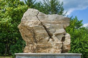 本溪地质博物馆溥层石灰岩岩石
