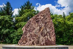 本溪地质博物馆紫色泥灰岩岩石