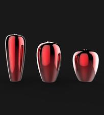 红色室内花瓶