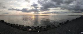 日落时分海上风光