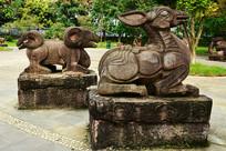 生肖羊石雕雕塑