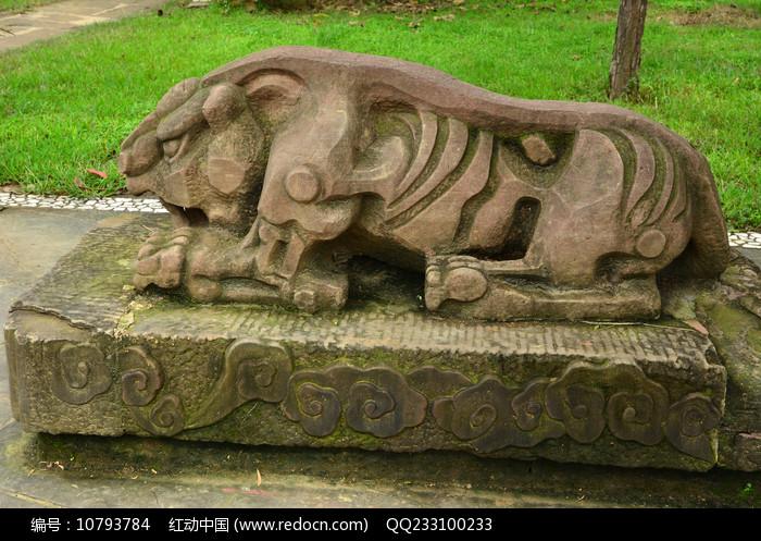十二生肖虎石雕雕塑图片