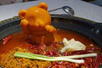 小熊造型牛油火锅