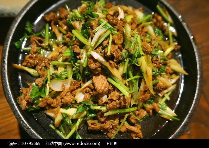 北方菜-香菜爆肥牛图片