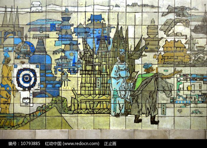 北京元大都场景浮雕 图片