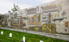北京元大都历史场景浮雕墙