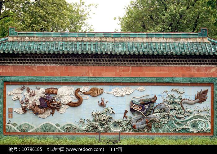 广东佛山祖庙的双龙壁图片