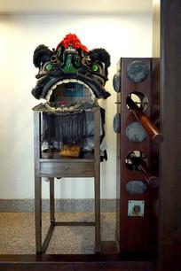 黄飞鸿纪念馆舞狮和咏春木人桩