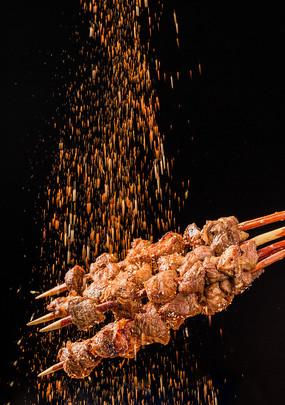 碳烤红柳羊肉串