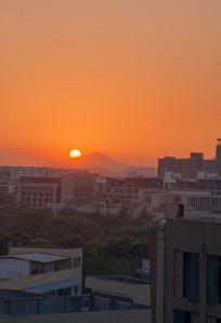 月荷湖夕阳