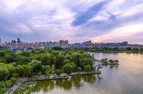 鸟瞰济南大明湖