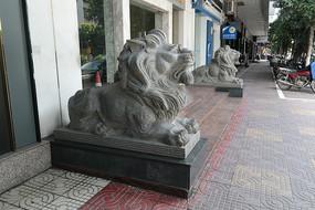 大理石狮子石雕