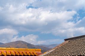 五台山景区的佛教寺庙建筑