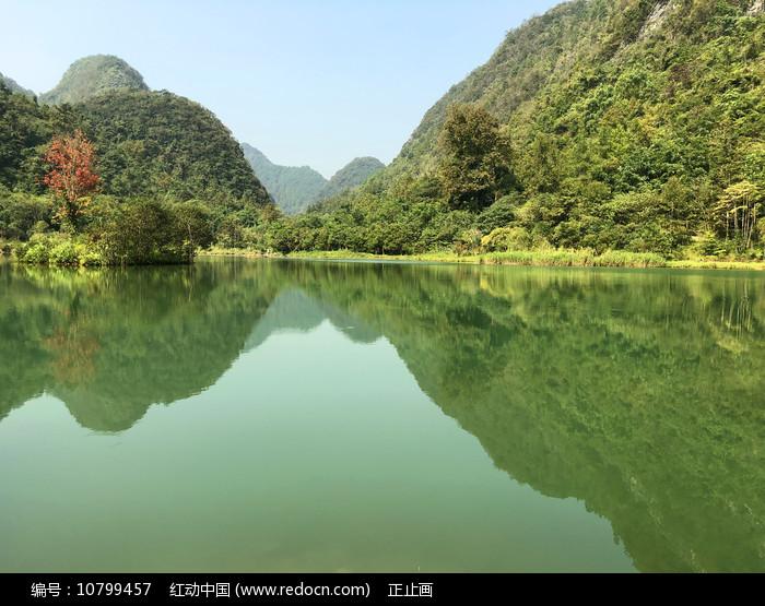贵州荔波小七孔上己定湖风光 图片